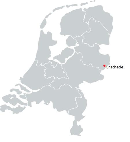 nederland kaart werkgebied sleutelservice